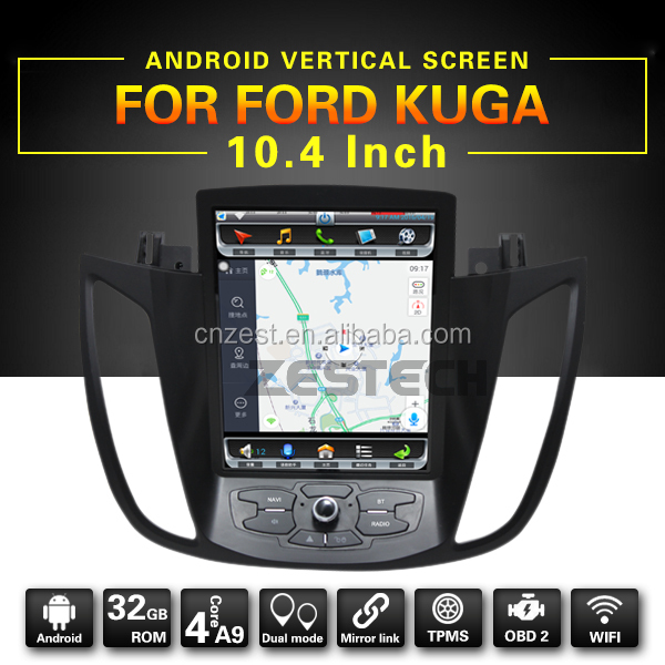 10.4/12.1inch car gps navigation for FORD KUGA with A9 CPU high RAM speed,support BT,WIFI,Radio