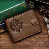 2015 best selling bifold genuine leather men wallet inserts for credit cards