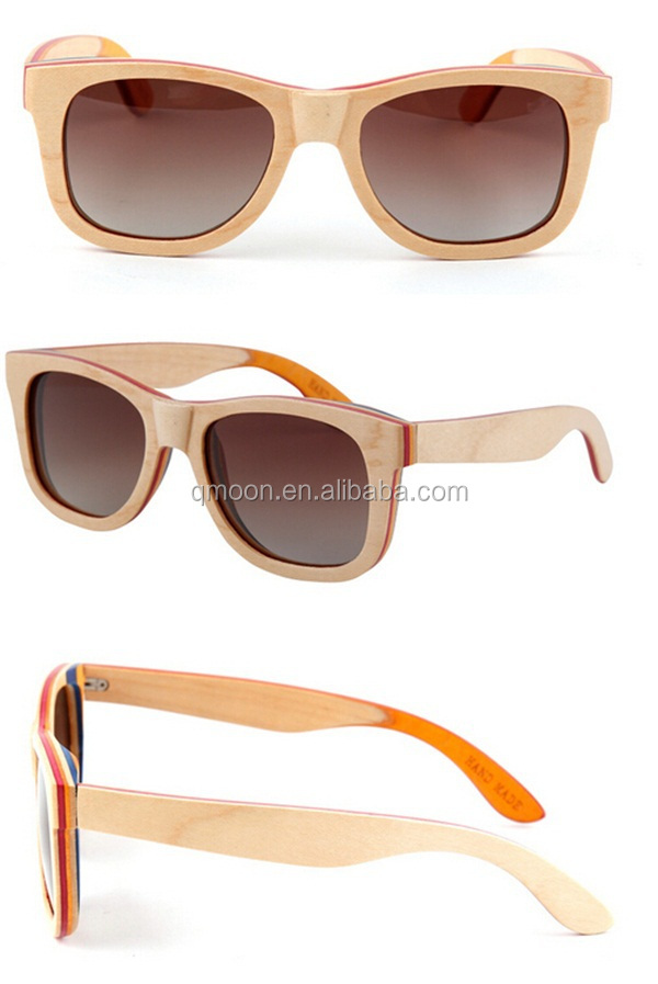 men driving polarized blue frame full wooden high quality good italian wood sunglasses