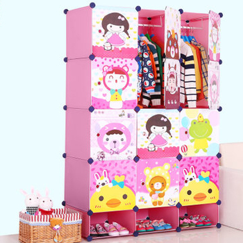 New Plastic Bedroom Baby Wardrobe Closet For Clothes And Shoes