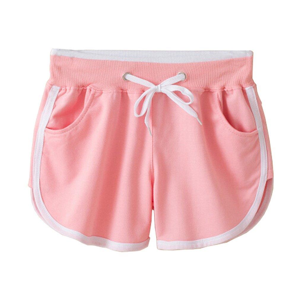 Buy Pink Running Yoga Shorts Womens Girls Breathable