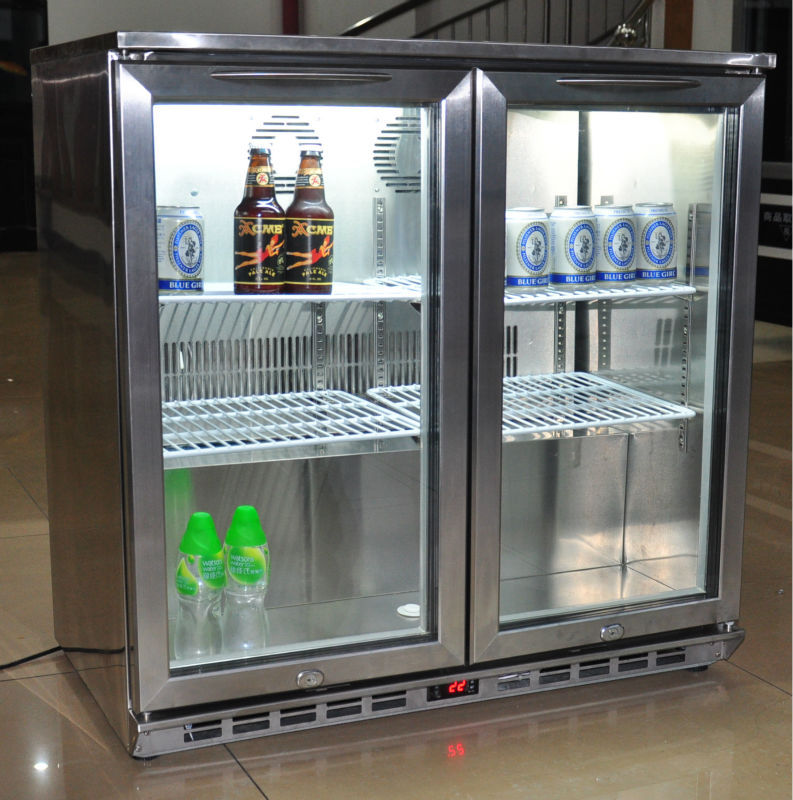 Samll Beer Fridge Under Table Display Case Cooler Used In Bar ...