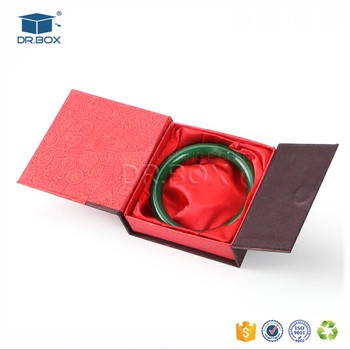 Paper Cardboard Custom Bracelet Box Special For Jade Bangle Jewelry Square Bracelets Packaging