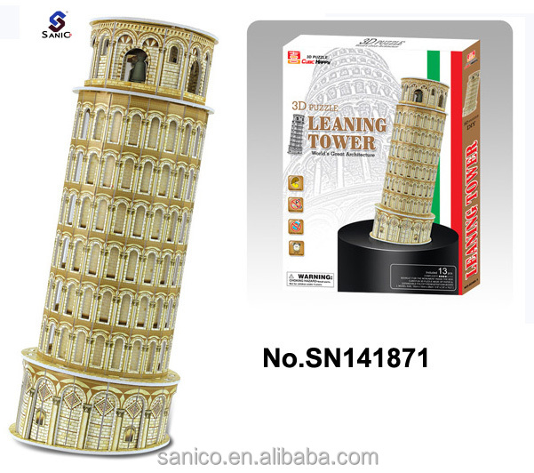 The Leaning Tower of Pisa 3 d puzzle