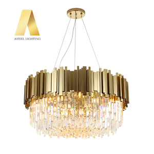 post modern luxury k9 crystal chandelier lighting gold chandeliers pendant lights for home