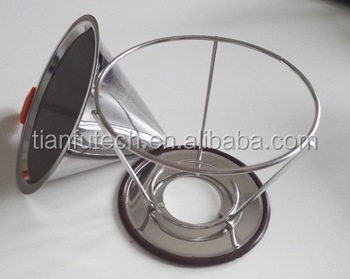 Stainless Steel Wire Mesh Coffee Filter Cone/Clever Coffee Dripper /Drip Coffee Maker with Holder
