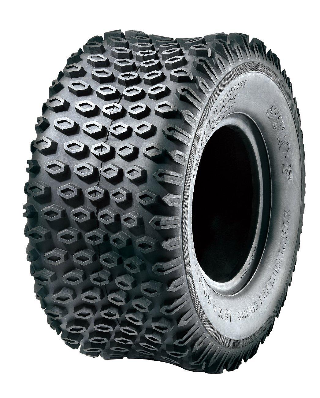 Set of 2 SunF A012 ATV Tires 18x9.5-8, 2 Ply