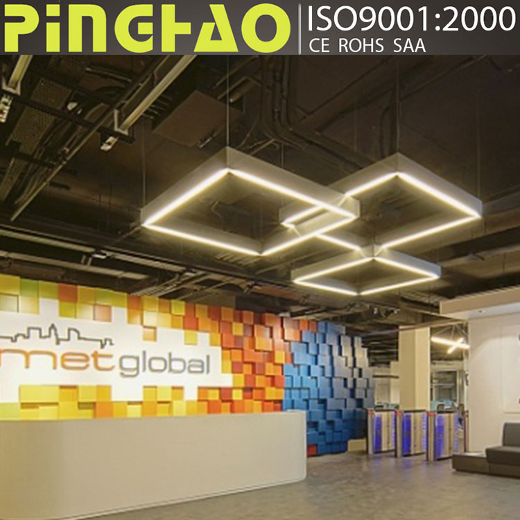 high brightness Aluminium pendant led line light for office hanging lamp