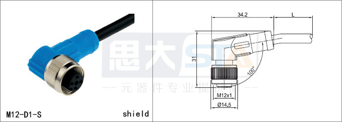 sensor connector straight and right angle version molded m12 4pin sensor connector straight and right angle version molded m12 4pin to rj45 connector cable