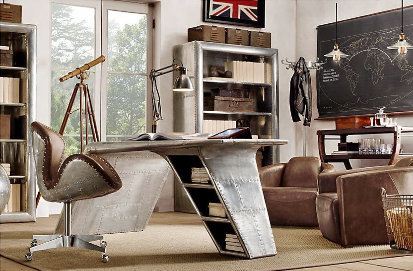 high quality antique retro style vintage leather office