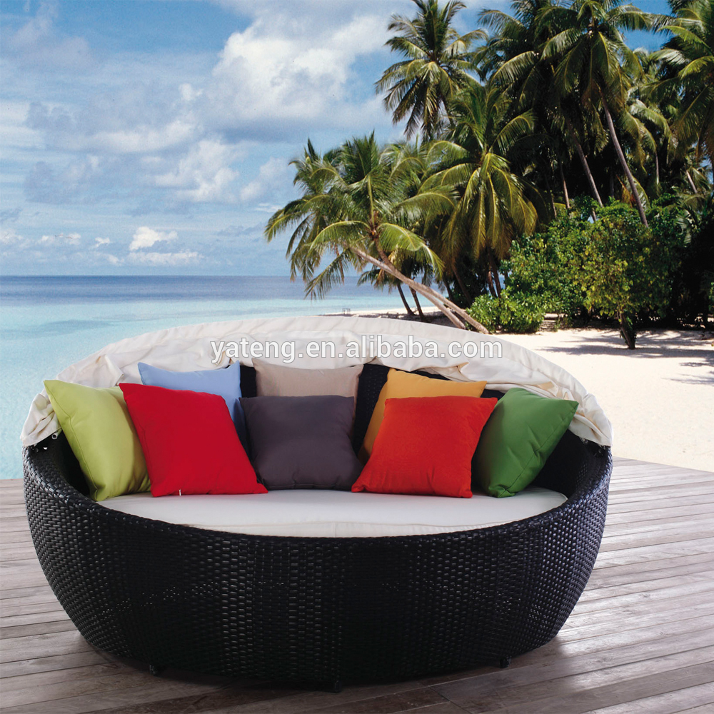 Oval Wicker Outdoor Round Lounge Furniture Daybed Product