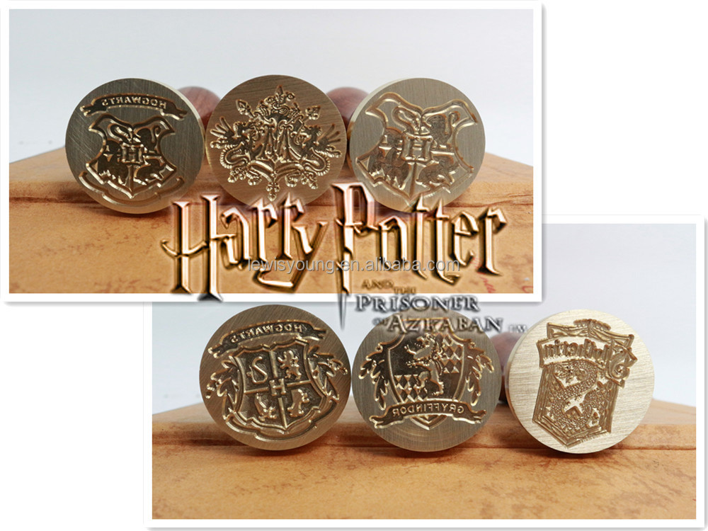 METAL handle and brass stamps head cutomized Harry Potter Hogwarts School Wax Seal Stamp