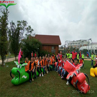 Team building game inflatable sport game, inflatable dragon boat racing game for adults and kids