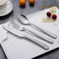 Stainless steel 18/10 spoon and fork set golf design handle kinds of flatwares and uses