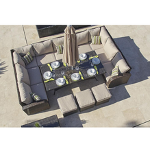 Perumahan multifungsi makan dan rekreasi outdoor furniture wicker <span class=keywords><strong>taman</strong></span> 12 seater <span class=keywords><strong>sofa</strong></span> <span class=keywords><strong>set</strong></span>