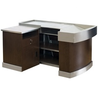 small supermarket shopping mall cashier counter desk checkout counter with conveyor belt for retail