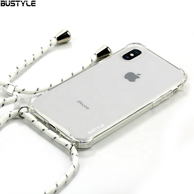 Hanging Mobile Cover Smart phone Cell Phone Case with Lanyard Neck Strap String Cord Rope for IPhone 6 6s 7 8 Plus X Xr Xs <strong>Max</strong>