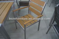 home furnitures, aluminum stacking chair, plastic wood dining chair