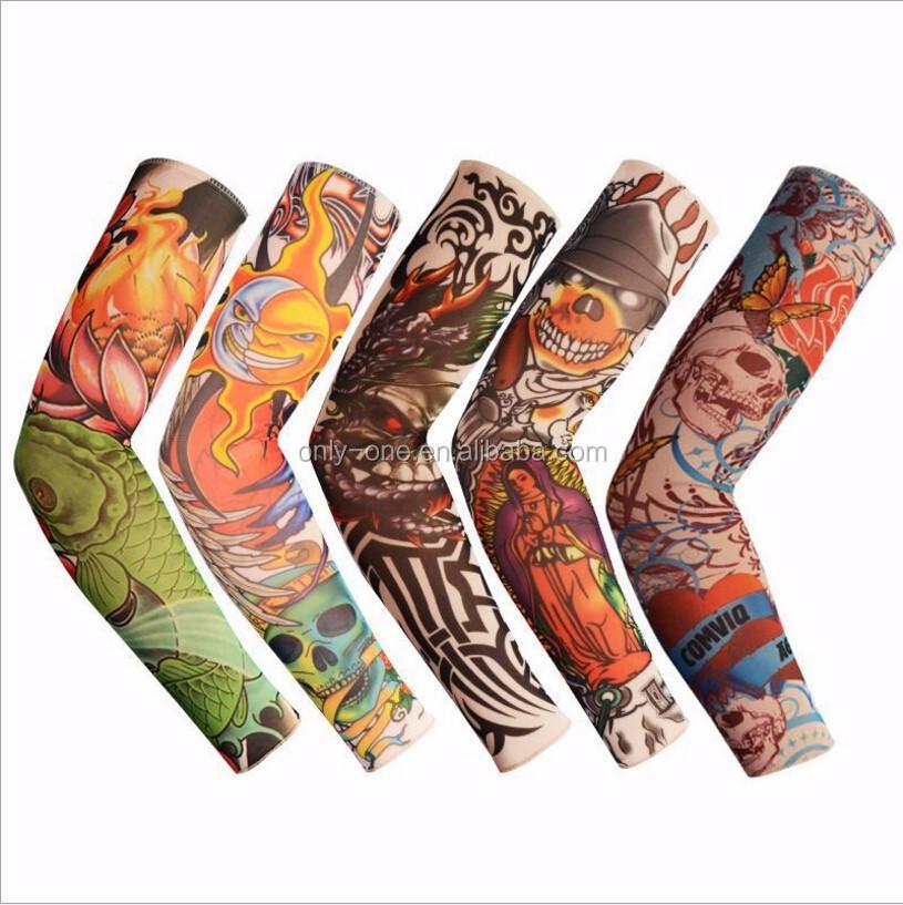 Dependable 1pc New Nylon Elastic Skull Tattoo Sleeve Men Women Fake Temporary Designs Body Arm Stockings Tattoo For Cool Men Arm Sleeves Men's Arm Warmers