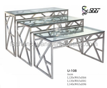 Exceptional Hot Sales Glass And S/S Buffet Counter / Food Display Table