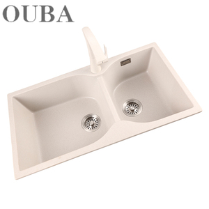 Professional Holes Cutting High Quality Solid Surface Molded Kitchen Sink