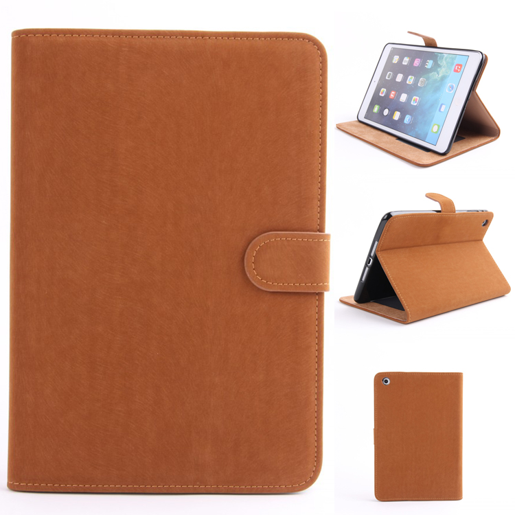 New Products Tablet Flip Cover TPU Leather Stand Case for iPad Mini 1 2 3