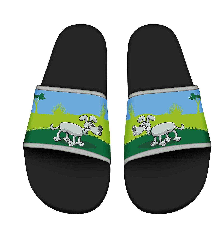 ZWJ Men Stylish Beach Sandals Indoor Floor Slipper Anti-Slip House Sandal Bath Slipper Indoor Floor Slipper