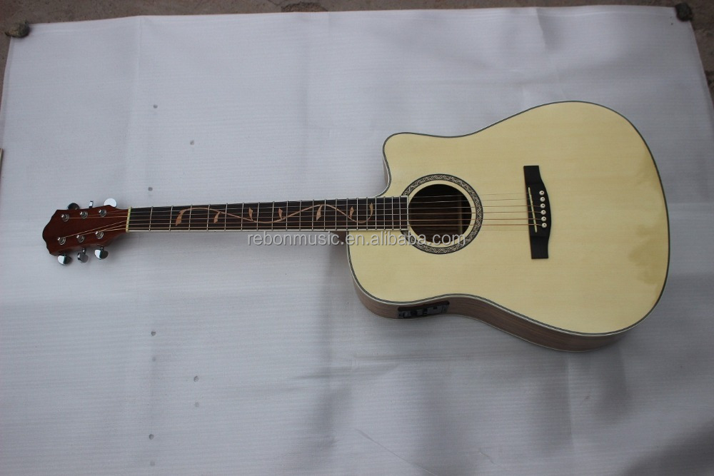 DC-77 spruce&zebra acoustic guitar with fishman EQ