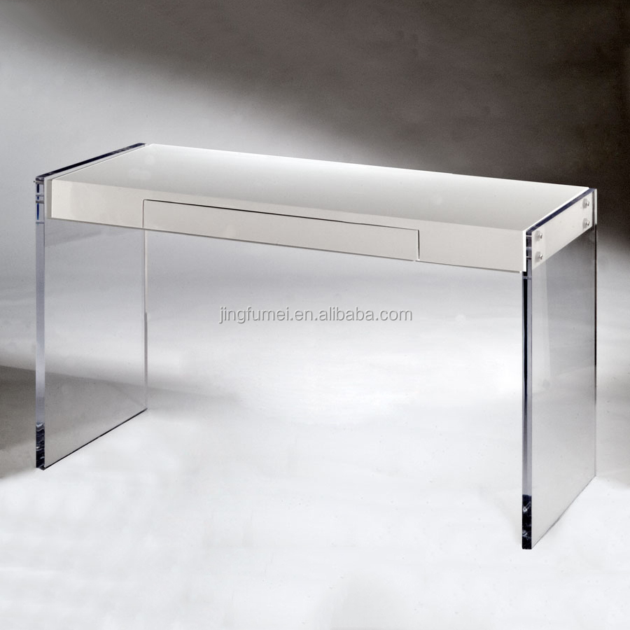 Simple Style Designer Lucite Vanity Dressing table with Clear Acrylic Legs