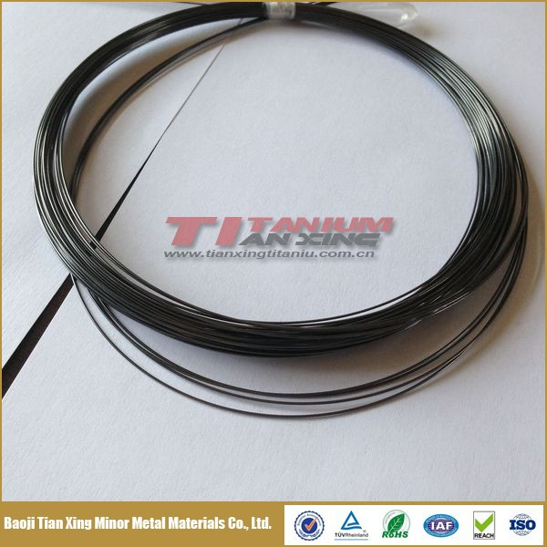 Black Oxide Nitinol Single Strand Titanium Fishing Wire with Shape Memory and High Strength