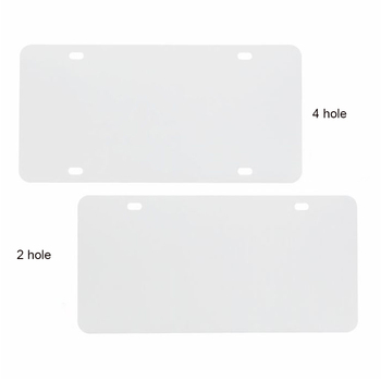 Amazon hot No MOQ Personalized Blank Aluminum Sublimation Car License Plate