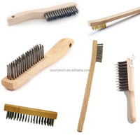 Long Wood Handle Stainless Steel Wire Scratch Brush with Different Type and Size