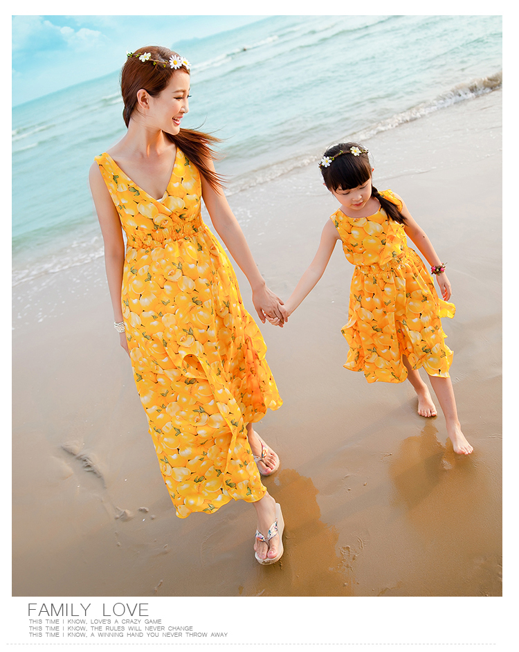 88f97ffff4e96 Family Clothing Suit Matching Clothing Mum & Daughter Summer Sexy Bohemian  Style Flower Printing Beach Dress Set - Buy Women Lady Bohemian Style Beach  ...