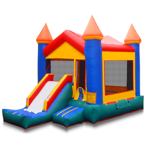 4*5.5m Children air jumping trampoline castle inflatable bouncer slide for sale climb and slide castle high quality moonwalk