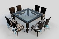 rattan kitchen furniture dining table and chair