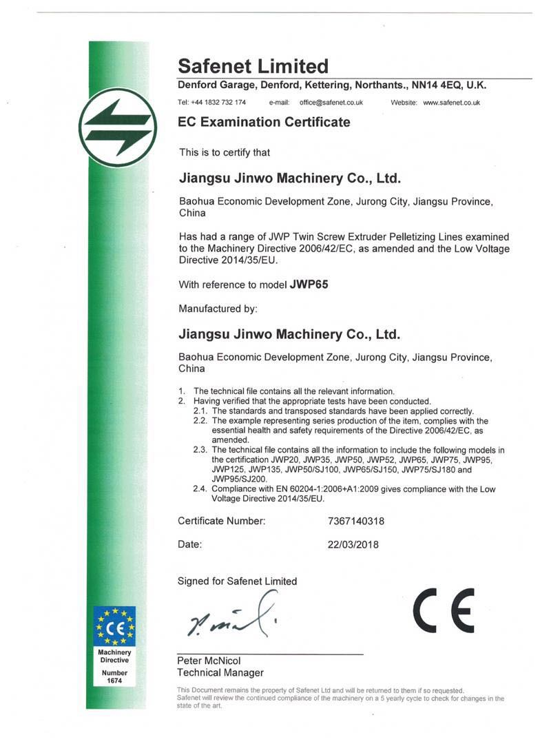 Size65mm plastic granulator/compounding tweelingschroefextruder voor masterbatch/pa/pe/pet/pvc/sbs /nbr/epdm