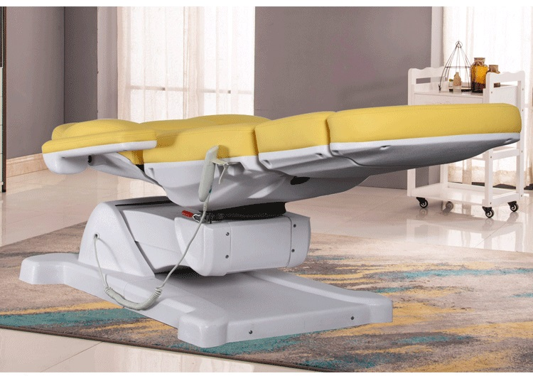 Electric rotatable beauty bed with legs electric pedicure chair