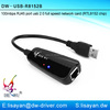 10/100Mbps Mini RJ45 Port USB 2.0 Ethernet Card for PC laptop