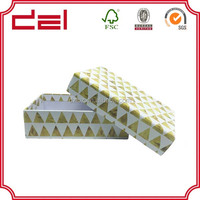 Latest simple design elegant empty gift box paper with lid