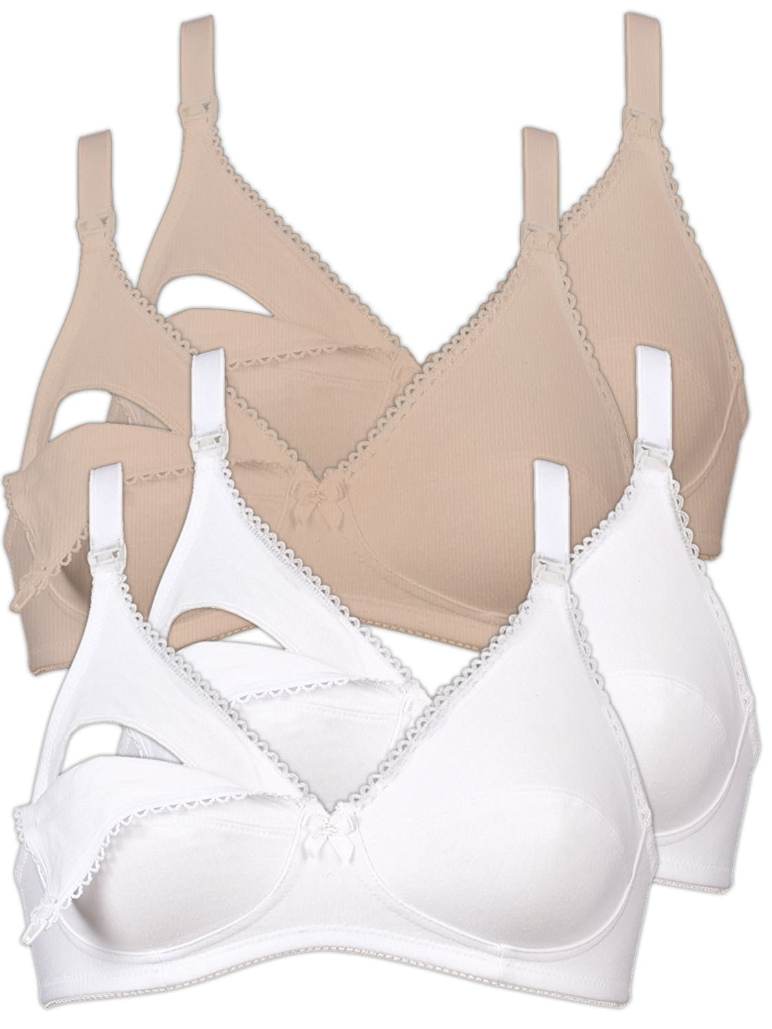 0760b55a7cace Get Quotations · Naturana Women s Pack Of 4 Wire Free Nursing Bra 5089 86989