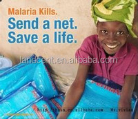 African insecticide treated double bed mosquito net for anti Malaria LLINs