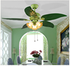 Whole sale price energy-saving lamp 3 E27 bulb ceiling fan with lights 48'' Green Apple Ceiling fan.