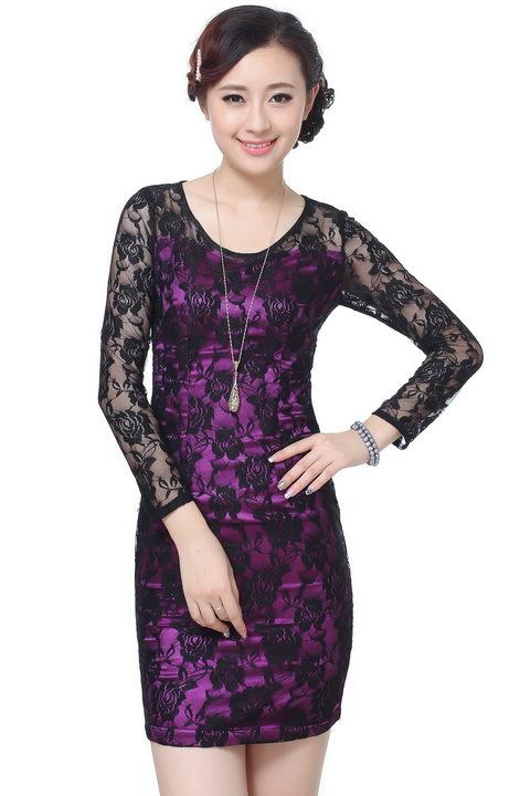 24961ea9e Get Quotations · Free shipping Fashion Qipao Chinese Women's Clothing  Cheong-sam Mini Qipao Dress Flower Size S M L