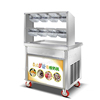 f700 top quality double pan stainless steel thai ice cream rolls fried ice cream machine