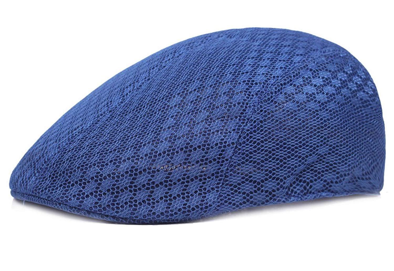 582d9917d8e8f Get Quotations · Roffatide Men Women Duckbill Mesh Summer Hat Breathable  Gatsby Ivy Driving Hat Sun Newsboy Cap