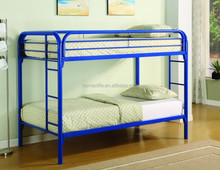 Twin/twin bunk bed with full length guard rails and ladders on each sid