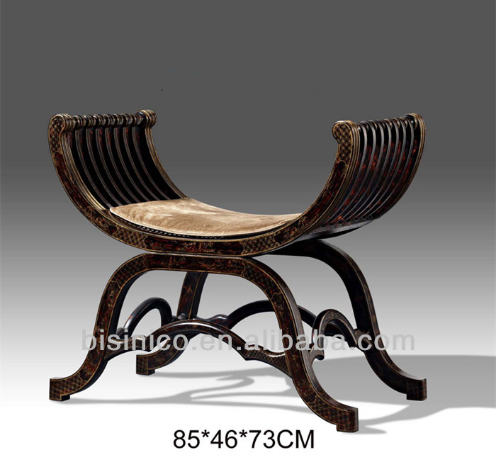 Hand Painted Baroque Chair Antique Furniture,Exquisite Carved Wooden  X Shaped Stool,Home Decorative Furniture   Buy Hand Painted Wooden Dressing  Stool ...