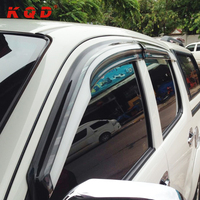 factory price rain visor wind visor window deflectors for toyota hilux vigo champ 2012