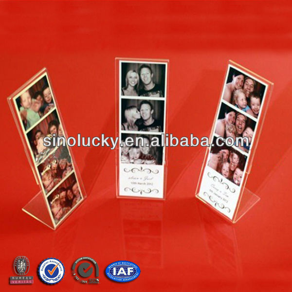 Acrylic 2 X 6 Photo Booth Strip Frames Acrylic Customized Photo