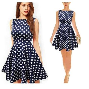 9985a018fb 2016 Women New Polka Dot Vintage Casual Dress - Buy Vintage ...
